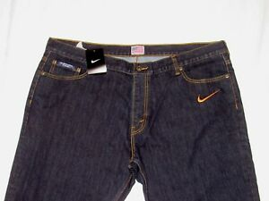 NIKE Denim Blue Jeans USA United States OLYMPIC ISSUED Dri Fit 42 x 35 34