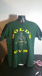 GOLDS GYM VINTAGE MEN SIZE XL GREEN T-SHIRT GOOD CONDITION MADE IN USA