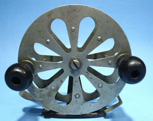 EXCELLENT ANTIQUE PAT AP'D FOR MEISSELBACH HERMOS NJ BIG GAME FLY FISHING REEL