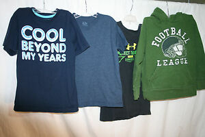 4 Pc Boys Lot Shirts sz M 7-8 Hoodie Shirts More UNDER ARMOUR Old Navy Nice Lot