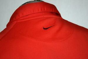 8298-t Mens Nike Golf Tennis Shirt Size XL Red Fit Dry