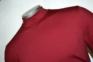 8585-t Mens Nike Golf Polo Shirt Mockturtle Neck Red Size S Small Fit Dry