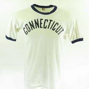 Vintage 50s Champion Running Man T-shirt Mens XL Connecticut White