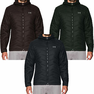 Under Armour UA Mens Quilted Padded Coldgear Reactor Hooded Packable Jacket Coat