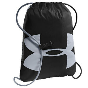 Under Armour Ozsee Sackpack Mens Bag Gym - Black Steel One Size