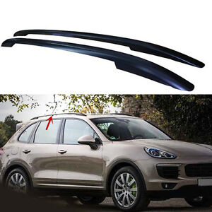 for Porsche Cayenne 2011-2015 Black Roof Rack Side Rails Bars Luggage Carrier