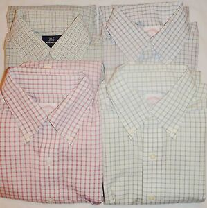 Lot of 4: Small Brooks Brothers Non-Iron Long Sleeve Casual Pocket Sport Shirts