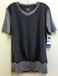 Brooks Women's Fly-By SS V-neck Shirt Heather Oxford Med. 25% Off Free Ship!