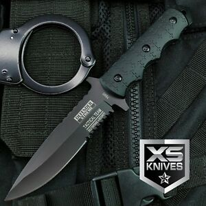 9 Navy SEALs Tactical Combat Bowie Knife w SHEATH Military Fixed Blade Survival $13.49