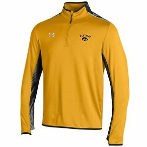 Iowa Hawkeyes Under Armour Gold Doomsday 14 Zip ColdGear Loose Pullover