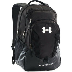 Under Armour Storm Recruit Mens Rucksack - Black Steel Silver One Size