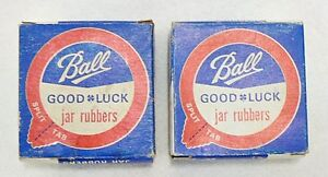 TWO BOXES OF BALL GOOD LUCK JAR RUBBERS