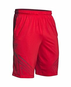Under Armour Men's XL UA Undeniable Baseball Training Shorts Red 600 NEW NWT
