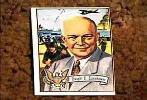 US PRESIDENTS DWIGHT D EISENHOWER TRADING CARD #33 TOPPS VF NM 1972