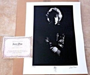 Jimmy Page Led Zeppelin Rare 1967 Signed Autographed 16x20 Photo #2350 Page COA