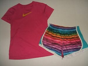 Nike Shorts T Shirt Girls XL Soccer Run Sports Camp Lot