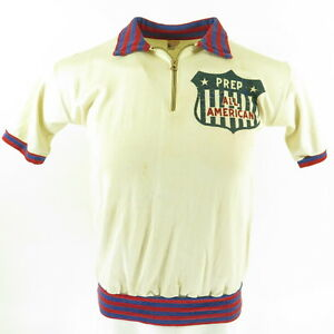 Vintage 50s Champion Running Man Shirt Mens M Prep All American Durene
