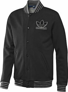 RARE~Adidas SKATE VARSITY Jacket superstar Letterman sweat shirt Coat~Mens sz XL