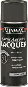 NEW MINWAX 15210 12 OZ SPRAY SATIN LACQUER CLEAR WOOD FINISH SEALER 4731857