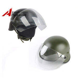 2 Color Tactical Airsoft Paintball  M88 PASGT Kelver Swat Helmet W Clear Visor