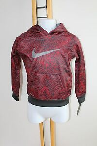 Nike Dry Fit Shirt Top Boy's Boy Size 4 Dri-Fit NWT NEW Hoodie Red Black Sweat
