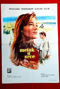 BULLET THROUGH HEART FRANCOISE HARDY 1966 UNE BALLE AU COEUR EXYU MOVIE POSTER