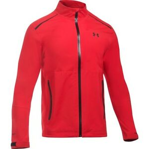 Under Armour Storm Goretex Paclite Mens Jacket Coat - Red All Sizes