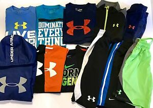 BOYS SMALL 78 UNDER ARMOUR LOT Of 14 Hoodies Shorts T-shirts UA