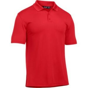 Under Armour 1279759 Men's Red Tac Performance Short Sleeve Polo - Size Small