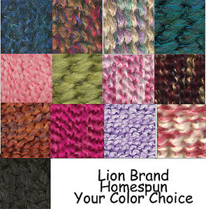 Lion Brand Homespun Bulky Yarn Many Hard 2 Find Discontinued Colors Choice