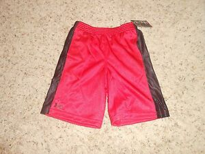 New Toddler Boys Under Armour Shorts Size 3T Red Athletic