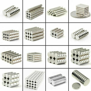 Lot 25 50 100 Pcs Round Disc Magnets Rare Earth Neodymium Magnet N50 N48 N52 N42 $7.99