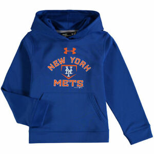 Under Armour New York Mets Youth Royal Fleece Pullover Hoodie - MLB