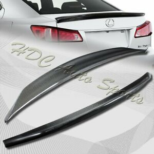 For 2006-2013 Lexus IS250 IS350 Duck Real Carbon Fiber Rear Trunk Spoiler Wing