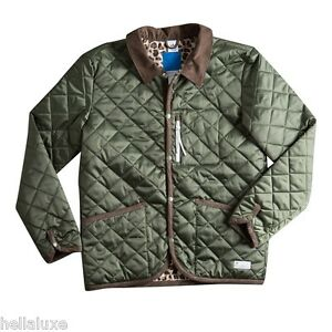 nw~Adidas DOG KEEPER JACKET QUILTED Leopard superstar sweat shirt Coat~Men sz XL