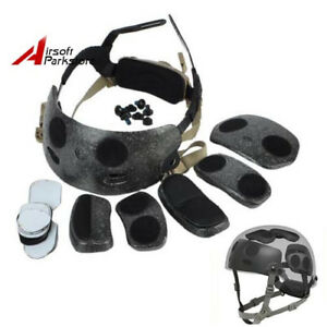 Tactical Airsoft Combat Helmet Dial Liner Kit Fit for Ops Core FAST MICH Helmet