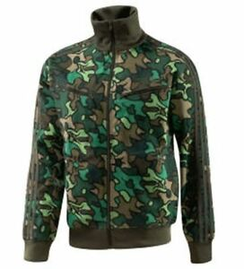 RARE VINTAGE~Adidas SAFETY CAMO Track Top sweat shirt Firebird Jacket~Men sz 4XL