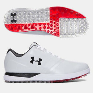 UNDER ARMOUR MEN'S PERFORMANCE SL SPIKELESS GOLF SHOES SIZE:13 WIDE* WHITE 18298