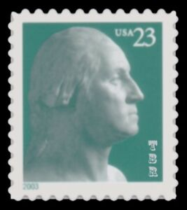 3819 George Washington 23c Single 2003 Reprint Variety Die Cut 11 MNH Buy Now
