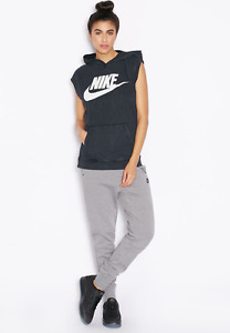 Nike NEW Womens Sportswear Sleeveless Pullover Hoodie Shirt 802555 Large L $100