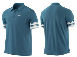 nwt~Nike Dri-Fit ROGER FEDERER ALL COURT CLAY Tennis Polo French Op Shirt Top~Lg