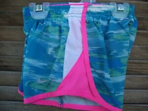 NIKE Tempo Dri-Fit running shorts~girl's size 4T~teal white pink~