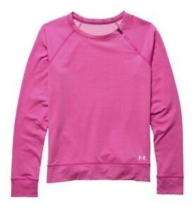 Under Armour Women's Cold Gear Cozy Zip Long Sleeve Crew Rebel Pink