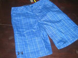 UNDER ARMOUR BOYS YOUTH MED M MEDIUM GOLF SHORTS ROYAL BLUE KIDS NEW NWT