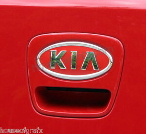 Front amp; rear vinyl emblem overlay graphic sticker decal decals fit 2012 Kia Soul