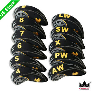 11PCS Set Neoprene Golf Iron Covers Head cover For mizuno Titleist Cobra Ping $19.99
