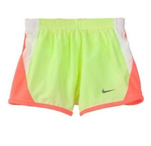 Nike Girls Shorts Tempo Dry-Fit Gym Shorts 322139-364 Sz 4 color Liquid Lime