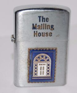 Vintage Wellington Lighter THE MAILING HOUSE with Logo $12.95