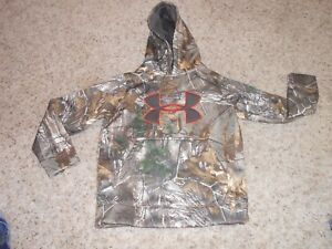 New Under Armour Hoodie Size Small Youth Boys Camo  Loose Realtree $59