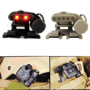 Tactical Head Lamp & Helmet Light IR LED Flashlight Set Gen 3 (White & Red)